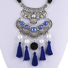 お買い得  ネックレス-女性用 合成タンザナイト ペンダントネックレス  -  真珠 ヴィンテージ, ファッション, 特大の レインボー, レッド, ブルー 50 cm ネックレス 用途 日常, ストリート