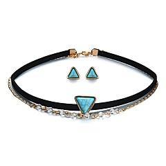voordelige Damessieraden-Dames Sieraden set 1 Ketting / Oorbellen - Modieus / Gothic Driehoek Regenboog Sieraden Set Voor Ceremonie / Carnaval