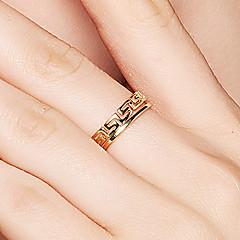 preiswerte Ringe-Damen Bandring / Öffne den Ring - S925 Sterling Silber Zierlich, Einfach, Retro 8 Gold Für Alltag / Verabredung