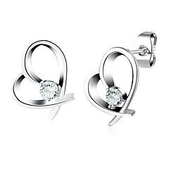 abordables Bijoux pour Femme-Zircon Boucles d'oreille goujon - Cœur, Fréquence cardiaque Mode Argent Pour Mariage Quotidien