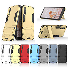 billige Etuier/covers til Huawei-Etui Til Huawei P20 Pro / P20 Med stativ Bagcover Ensfarvet Hårdt PC for Huawei P20 lite / Huawei P20 Pro / Huawei P20