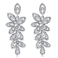 preiswerte Ohrringe-Kristall Kronleuchter Tropfen-Ohrringe - Blattform Modisch, Elegant Silber Für Hochzeit / Party / Abend