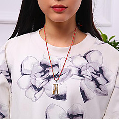 お買い得  ネックレス-女性用 ペンダントネックレス  -  チタン鋼, 銀メッキ, ゴールドメッキ レディース, ユニーク, ヴィンテージ, ファッション ゴールド, シルバー 42 cm ネックレス ジュエリー 用途 贈り物, 日常