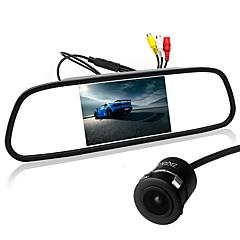 baratos Câmeras de Ré para Carros-Ziqiao 5 polegada ccd tft-lcd ccd carro 170 graus retrovisor do carro kit dobrável à prova d 'água para carro