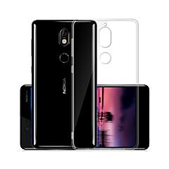 Недорогие Чехлы и кейсы для Nokia-Кейс для Назначение Nokia Nokia 7 Прозрачный Кейс на заднюю панель Однотонный Мягкий ТПУ для Nokia 7