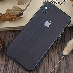abordables Adhesivos Skin para iPhone-1 pieza Adhesivo para iPhone X Anti-Arañazos Fibra de Madera Diseño PVC iPhone X