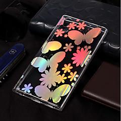Недорогие Чехлы и кейсы для Sony-Кейс для Назначение Sony Xperia L2 / Xperia L1 Покрытие / С узором Кейс на заднюю панель Бабочка Мягкий ТПУ для Xperia L2 / Sony Xperia L1
