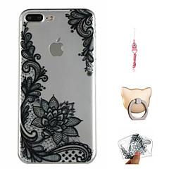 Недорогие Кейсы для iPhone 7 Plus-Кейс для Назначение Apple iPhone X / iPhone 8 Plus С узором Кейс на заднюю панель Кружева Печать Мягкий ТПУ для iPhone X / iPhone 8 Pluss