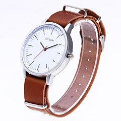 preiswerte Herrenuhren-Herrn Kleideruhr Chinesisch Chronograph / Armbanduhren für den Alltag Nylon Band Kreativ / Modisch Schwarz