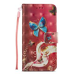 Недорогие Кейсы для iPhone 7-Кейс для Назначение Apple iPhone X / iPhone 8 Бумажник для карт / со стендом / Флип Чехол Бабочка Твердый Кожа PU для iPhone X / iPhone 8