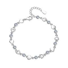 preiswerte Armbänder-5 Stück Kubikzirkonia Ketten- & Glieder-Armbänder - Herz damas, Modisch Armbänder Schmuck Weiß / Purpur Für Party Strasse
