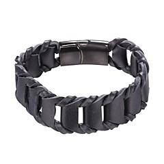 Недорогие Женские украшения-Кожаные браслеты - Мода Браслеты Черный / Коричневый Назначение Повседневные