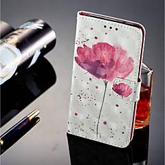 billige Etuier til Sony-Etui Til Sony Xperia XZ2 / Xperia XZ2 Compact Kortholder / Pung / Med stativ Fuldt etui Blomst Hårdt PU Læder for Xperia XZ2 / Xperia XA2