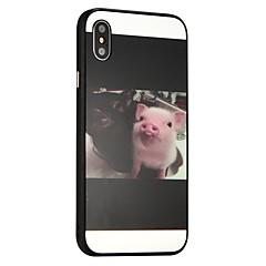 Недорогие Кейсы для iPhone 7 Plus-Кейс для Назначение Apple iPhone X iPhone 8 Защита от удара Кейс на заднюю панель Животное Твердый ПК для iPhone X iPhone 8 Pluss iPhone