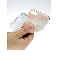 Недорогие Кейсы для iPhone X-Кейс для Назначение Apple iPhone X / iPhone 7 Ультратонкий / С узором / Милый Кейс на заднюю панель Пейзаж Мягкий ТПУ для iPhone X /