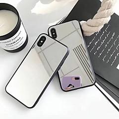 Недорогие Кейсы для iPhone X-Кейс для Назначение Apple iPhone X / iPhone 8 Plus Зеркальная поверхность Кейс на заднюю панель Однотонный Твердый Акрил для iPhone X / iPhone 8 Pluss / iPhone 8