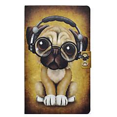 Недорогие Чехлы и кейсы для Galaxy Tab 3 Lite-Кейс для Назначение SSamsung Galaxy Tab 3 Lite Бумажник для карт / Защита от удара / со стендом Кейс на заднюю панель С собакой Твердый Кожа PU для Tab 3 Lite
