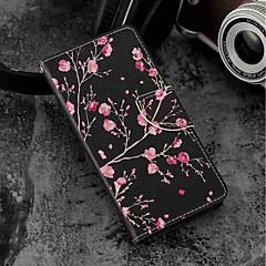 Недорогие Чехлы и кейсы для Sony-Кейс для Назначение Sony Xperia XZ2 / Xperia XZ2 Compact Бумажник для карт / Кошелек / со стендом Чехол Цветы Твердый Кожа PU для Xperia