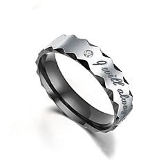 お買い得  指輪-カップルリング / バンドリング  -  円形 / ウェーブ クラシック / ファッション ゴールド / ブラック リング 用途 婚約 / 贈り物 / 日常