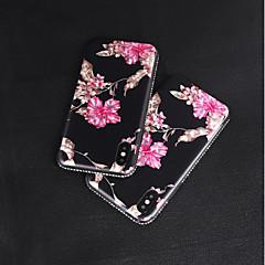 Недорогие Кейсы для iPhone 6 Plus-Кейс для Назначение Apple iPhone X / iPhone 8 Стразы / С узором Кейс на заднюю панель Цветы Мягкий ТПУ для iPhone X / iPhone 8 Pluss /