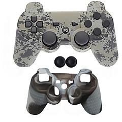 お買い得  PS3 用アクセサリー-ワイヤレス ゲームコントローラキット 用途 Sony PS3 、 Bluetooth パータブル ゲームコントローラキット シリコーン 1 pcs 単位