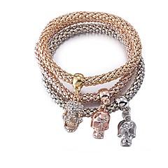 preiswerte Armbänder-Damen Armband - vergoldet Totenkopf Modisch Armbänder Kaffee Für Geschenk / Alltag