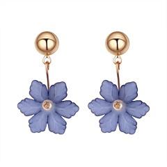 preiswerte Ohrringe-Damen Tropfen-Ohrringe - Blume Stilvoll Weiß / Dunkelblau / Grau Für Verabredung Geburtstag