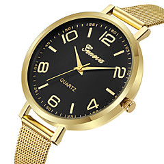 preiswerte Damenuhren-Geneva Damen Kleideruhr / Armbanduhr Chinesisch Neues Design / Armbanduhren für den Alltag / Cool Legierung Band Freizeit / Modisch Gold / Rotgold / Ein Jahr