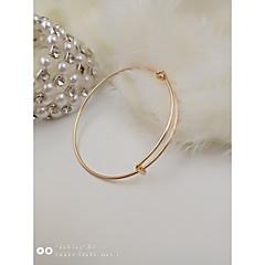 preiswerte Armbänder-Damen Armreife Armband - Edelstahl Metallisch, Einfach, Modisch Armbänder Silber / Grau / Rotgold Für Geschenk Alltag