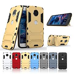 Недорогие Чехлы и кейсы для Motorola-Кейс для Назначение Motorola G5 Plus / G5 со стендом Кейс на заднюю панель Однотонный Твердый ПК для Moto G5s Plus / Moto G5s / Мото G5 Plus
