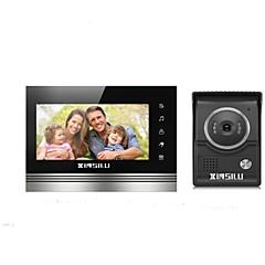 abordables Sistemas de Control de Acceso-XINSILU XSL-V70K-L+,black 7 pulgada Manos-Libres 800*480 Píxel One to One de vídeo portero automático
