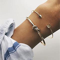 preiswerte Armbänder-Damen Manschetten-Armbänder - Kreis verdrehen Einfach, Klassisch, Modisch Armbänder Gold Für Party / Verabredung / Festtage