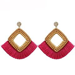 preiswerte Ohrringe-Damen Quaste Tropfen-Ohrringe - Geometrisch, Quaste Rot / Blau / Rosa Für Geschenk / Alltag