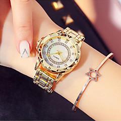 preiswerte Damenuhren-Damen Kleideruhr / Armbanduhr Japanisch Neues Design / Armbanduhren für den Alltag / Imitation Diamant Edelstahl Band Modisch / Elegant Silber / Gold / Rotgold / Sony SR920SW / Zwei jahr