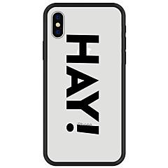 Недорогие Кейсы для iPhone X-Кейс для Назначение Apple iPhone X / iPhone 8 Plus С узором Кейс на заднюю панель Слова / выражения Твердый Акрил для iPhone X / iPhone 8 Pluss / iPhone 8