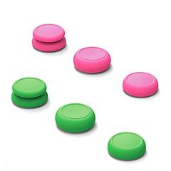 abordables Accesorios para Nintendo Switch-Kits de accesorios para juegos de controladores Para Interruptor de Nintendo ,  Adorable Kits de accesorios para juegos de controladores Silicona 6 pcs unidad