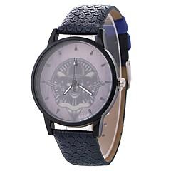 お買い得  レディース腕時計-女性用 ドレスウォッチ / リストウォッチ 中国 カジュアルウォッチ / 愛らしいです / スカル PU / 生地 バンド カジュアル / ファッション ブラック / ブルー / ブラウン