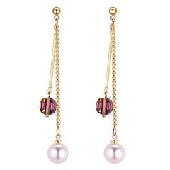 preiswerte Ohrringe-Damen Ohrstecker - Künstliche Perle Kugel Stilvoll, Anhänger Stil, Elegant Gold / Weiß / Schwarz Für Alltag / Arbeit