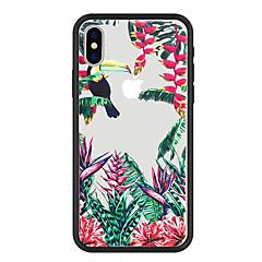 Недорогие Кейсы для iPhone 6-Кейс для Назначение Apple iPhone X / iPhone 8 Plus С узором Кейс на заднюю панель Растения / Животное / Цветы Твердый Акрил для iPhone X / iPhone 8 Pluss / iPhone 8
