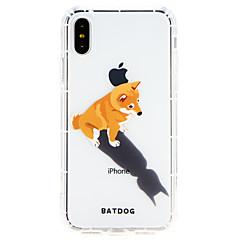 Недорогие Кейсы для iPhone 7-Кейс для Назначение Apple iPhone X / iPhone 8 Ультратонкий Кейс на заднюю панель С собакой Мягкий ТПУ для iPhone X / iPhone 8 Pluss / iPhone 8