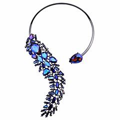 preiswerte Halsketten-Damen Kristall Nicht übereinstimmend Halsketten / Statement Ketten / Y Halskette - Alphabet Form Anhänger Stil, Böhmische, Modisch Blau, Rosa, Hellblau 33 cm Modische Halsketten 1pc Für Hochzeit