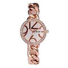 preiswerte Damenuhren-Damen Armbanduhr Chinesisch Chronograph / Armbanduhren für den Alltag / lieblich Edelstahl Band Armreif / Minimalistisch Silber / Gold /