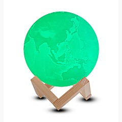 abordables Lámparas LED Novedosas-1pc Luz de noche LED / Luz nocturna 3D / Smart Night Light Blanco Fresco / Azul / Verde Recargable <5 V
