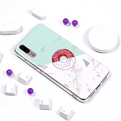 お買い得  Huawei Pシリーズケース/ カバー-ケース 用途 Huawei P20 Pro / P20 lite メッキ仕上げ / IMD / パターン バックカバー マーブル ソフト TPU のために Huawei P20 / Huawei P20 Pro / Huawei P20 lite
