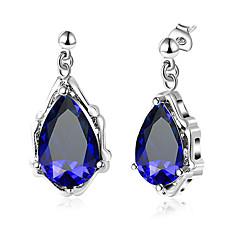preiswerte Ohrringe-Damen Kubikzirkonia Sektor Tropfen-Ohrringe - Tropfen, Herz Stilvoll, Modisch Silber Für Hochzeit / Alltag