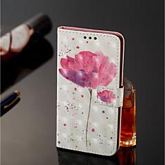 Недорогие Чехлы и кейсы для Nokia-Кейс для Назначение Nokia Nokia 7 Plus / Nokia 6 2018 Кошелек / Бумажник для карт / со стендом Чехол Цветы Твердый Кожа PU для Nokia 7