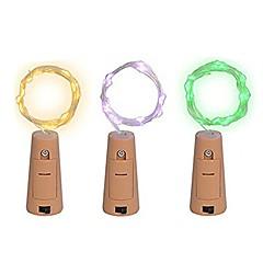 preiswerte LED Lichtstreifen-2m Leuchtgirlanden 20 LEDs SMD 0603 Warmes Weiß / Mehrfarbig Kreativ / Wasserfest / Dekorativ Batterien angetrieben 3 Stück