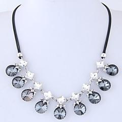 preiswerte Halsketten-Damen Seil Statement Ketten - Strass Europäisch, Modisch Grau, Dunkelrot 42 cm Modische Halsketten Schmuck 1pc Für Normal, Alltag