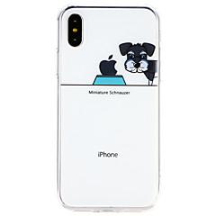 Недорогие Кейсы для iPhone 7 Plus-Кейс для Назначение Apple iPhone X / iPhone 8 Ультратонкий Кейс на заднюю панель С собакой Мягкий ТПУ для iPhone X / iPhone 8 Pluss / iPhone 8
