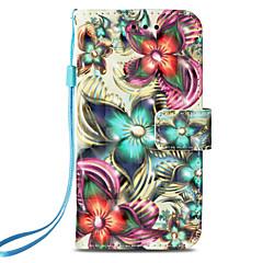 Недорогие Кейсы для iPhone-Кейс для Назначение Apple iPhone X / iPhone 8 Бумажник для карт / со стендом / Флип Чехол Цветы Твердый Кожа PU для iPhone X / iPhone 8 Pluss / iPhone 8